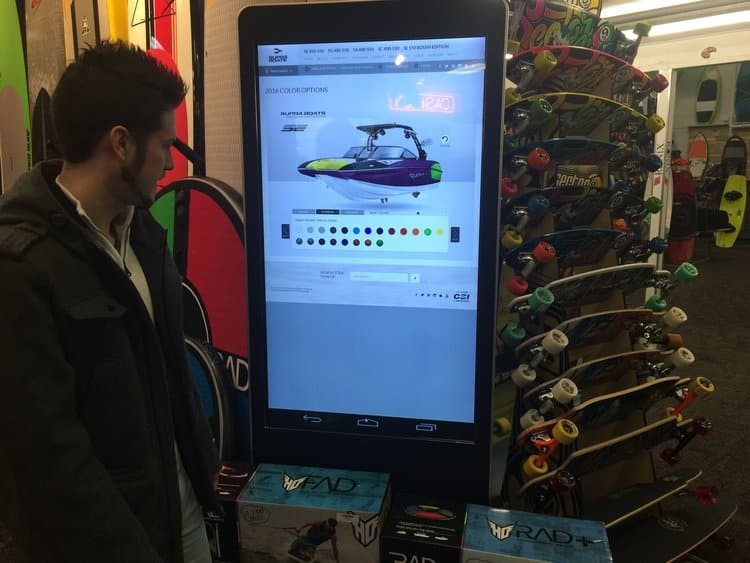 Interactive Signage - Stream Case Study - Marine Products - In-Store 2