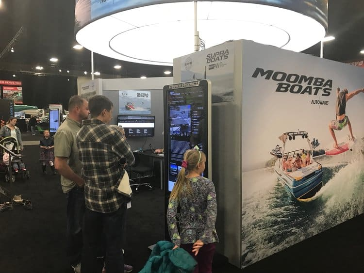 Interactive Signage - Stream Case Study - Marine Products - Trade Show