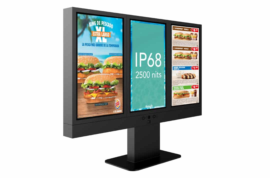 keewin+IP68+drive+thru+menu+board+kiosks+three+pieces-2