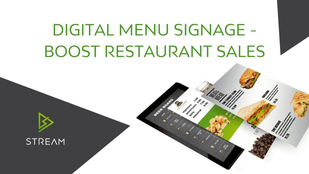 Digital Menu Signage - How to Boost Restaurant Sales