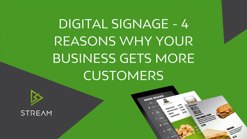 Digital Signage - 4 Reasons why your business gets more customers.