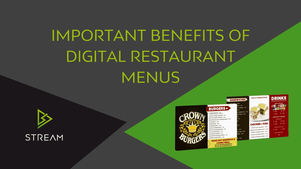 Important Benefits of Digital Restauant Menus