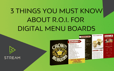 Electronic Menu Boards - 3 Things you must know about R.O.I..