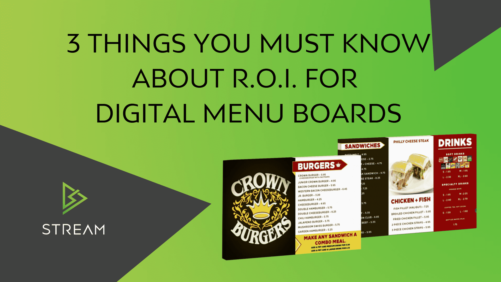 Electronic Menu Boards – 3 Things you must know about ROI