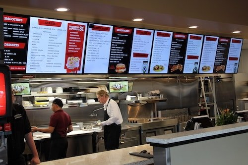 Digital Drive Thru Menu - Stream Case Study - American Burgers - Inside Menu 2