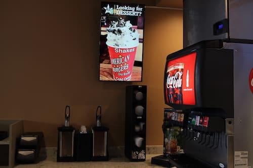 Digital Drive Thru Menu - Stream Case Study - American Burgers - Promotional Board