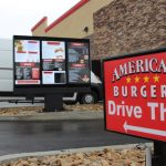Digital Drive Thru Menu  – American Burgers