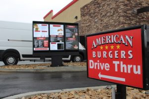 Digital Drive Thru Menu  – American Burgers