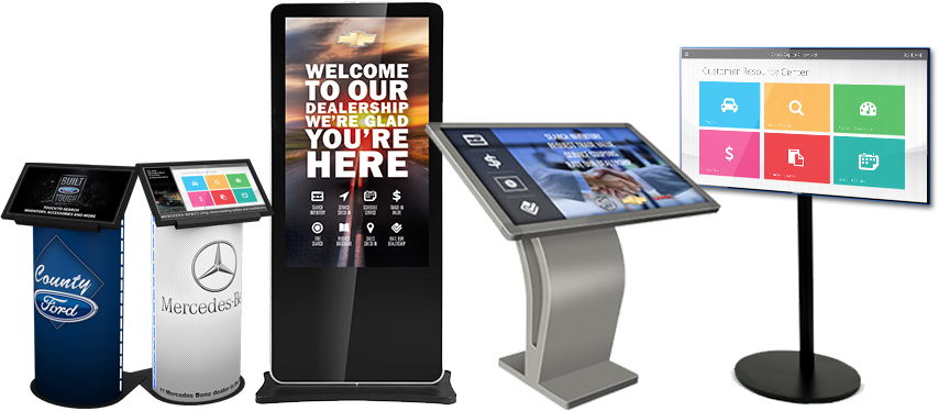 Touch Screen Kiosk for automobile industry