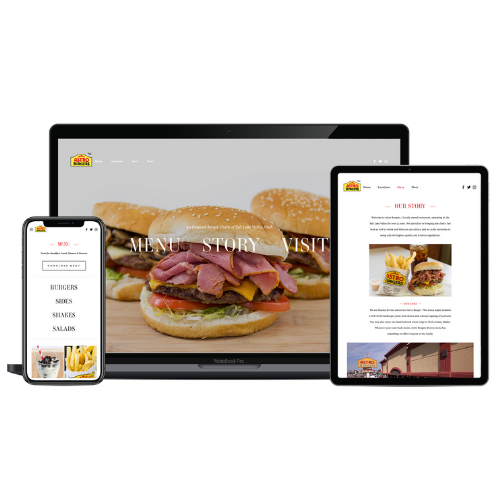 Website Development Portfolio Astro Burgers - STREAM