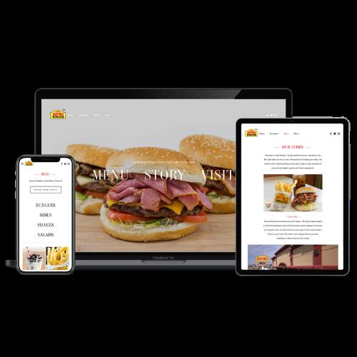 Website Development Portfolio Astro Burgers - STREAM