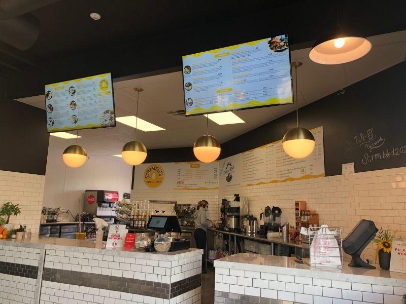Digital menu breakfast shop
