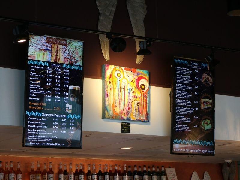 coffee shop digital menu board